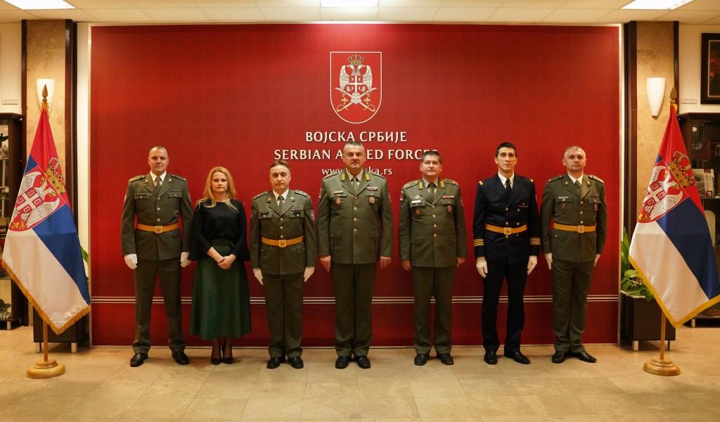Prijem delegacije geodetske službe Vojske Srbije