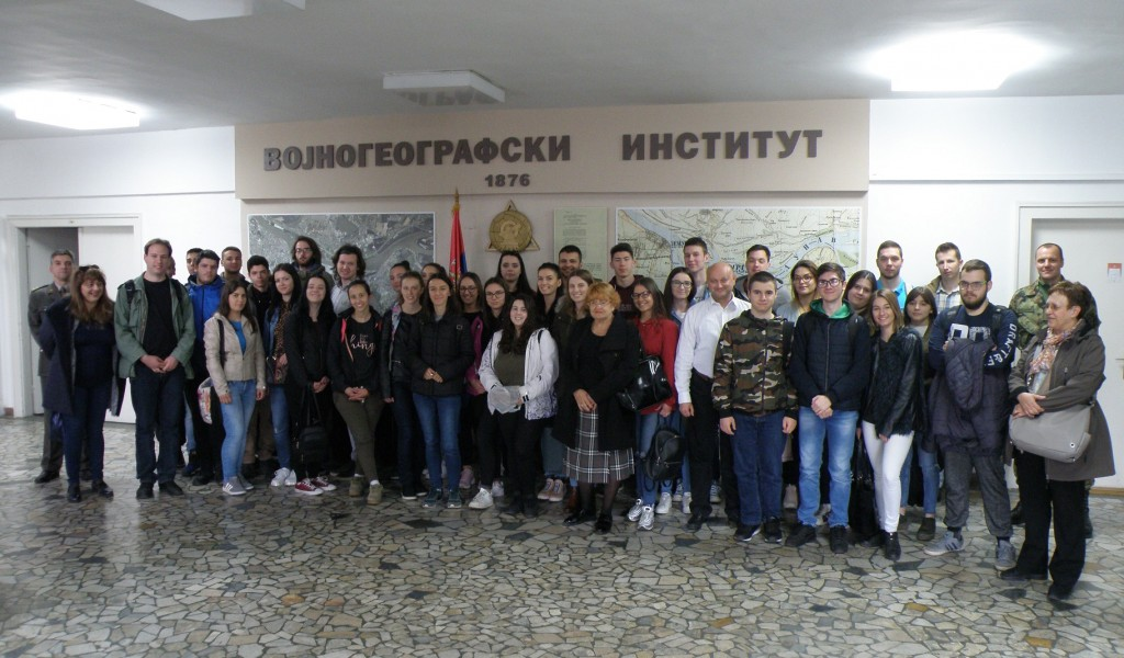Посета студената Географског факултета Војногеографском институту