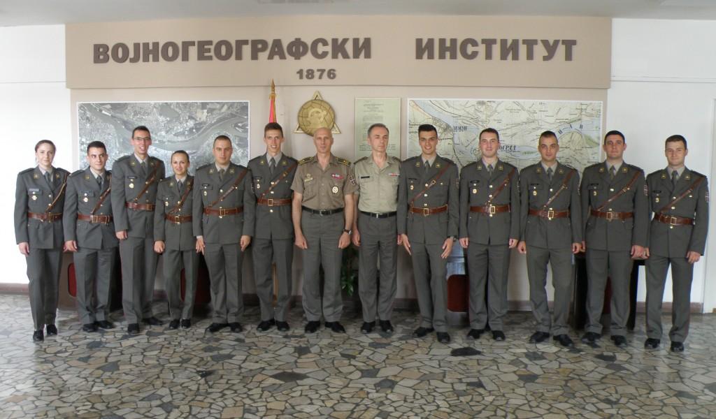 Prijem potporučnika geodetske službe u Vojnogeografskom institutu