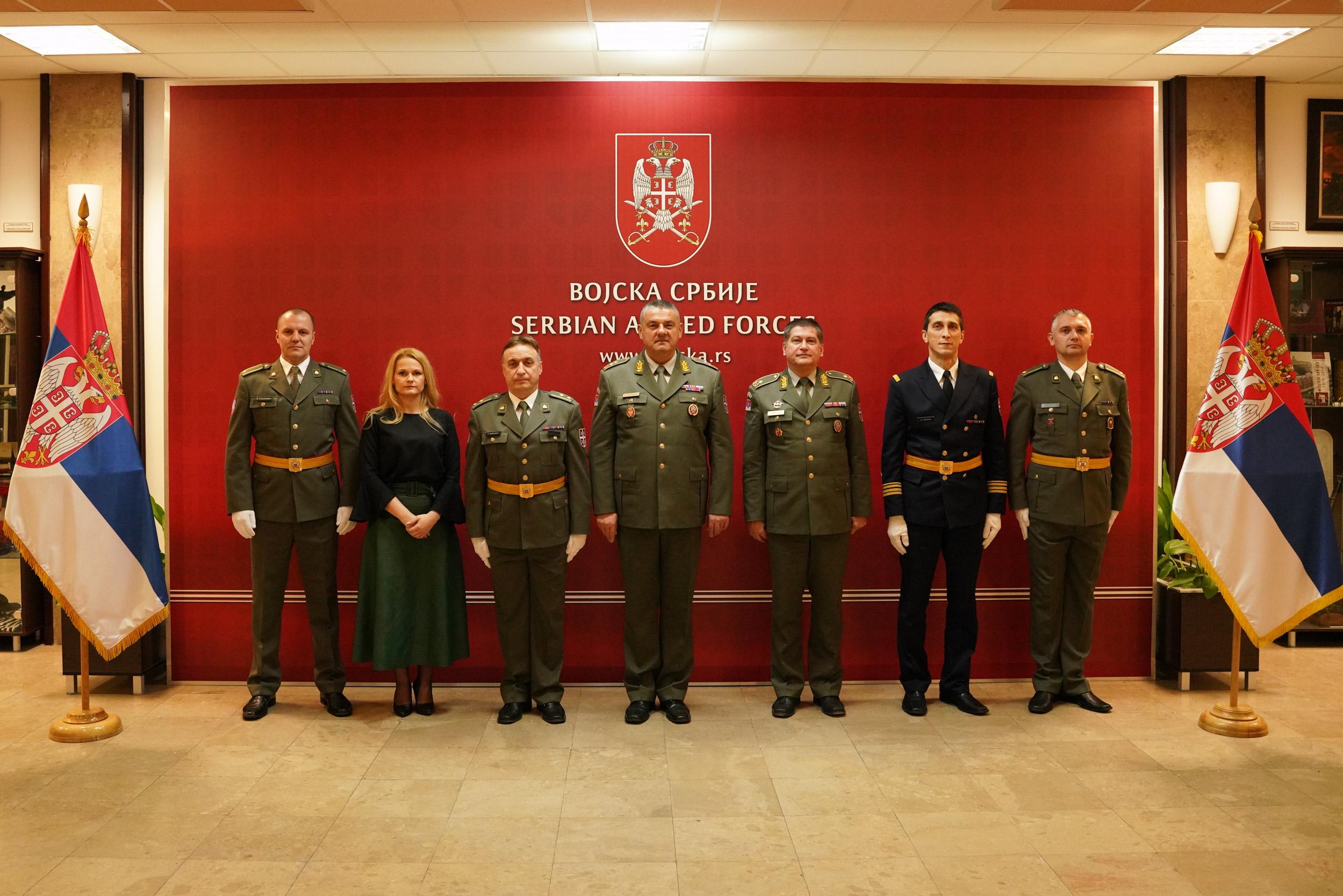 Пријем делегације геодетске службе Војске Србије