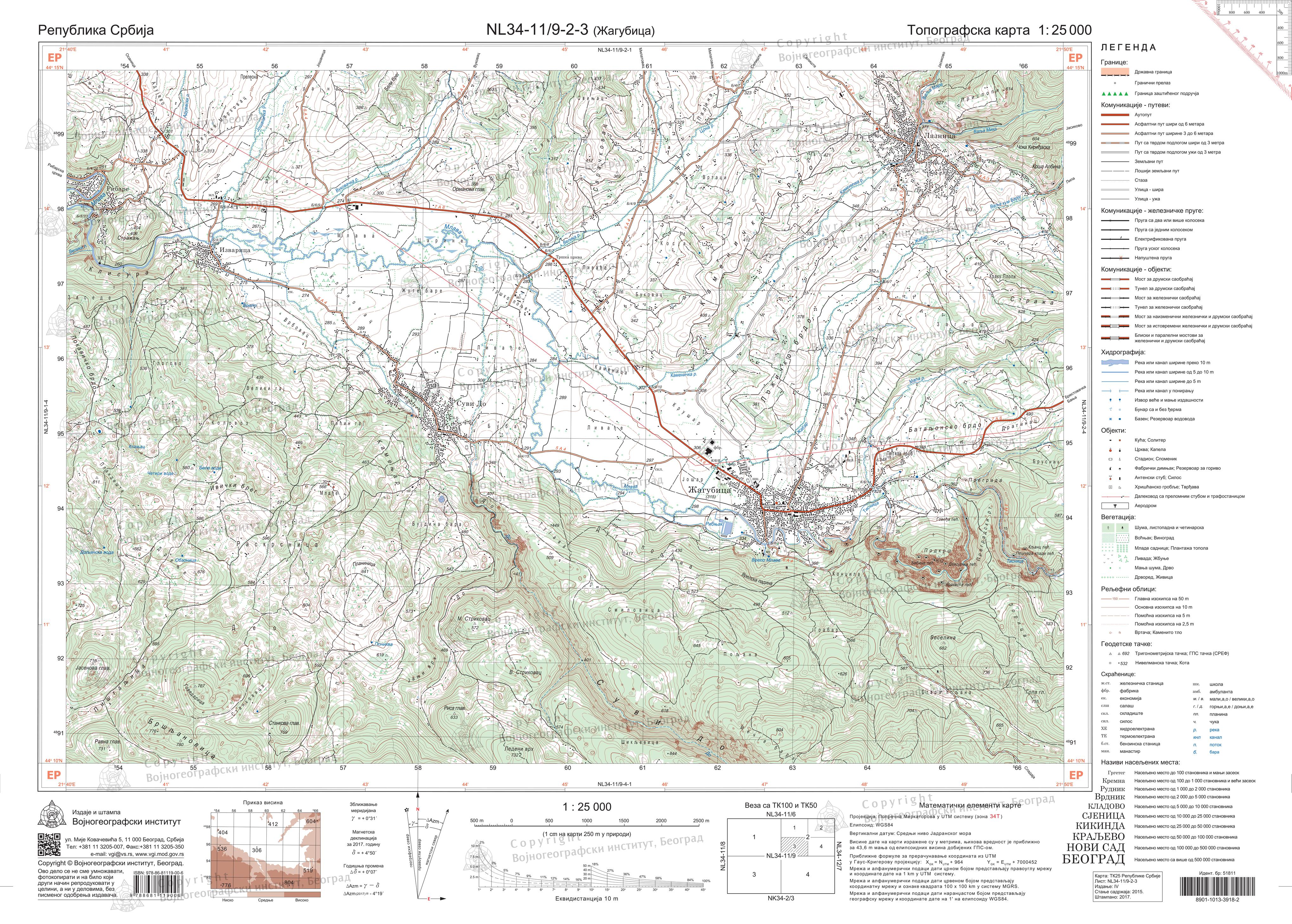 Нова геодетско-картографска решења на топографским картама издања ВГИ
