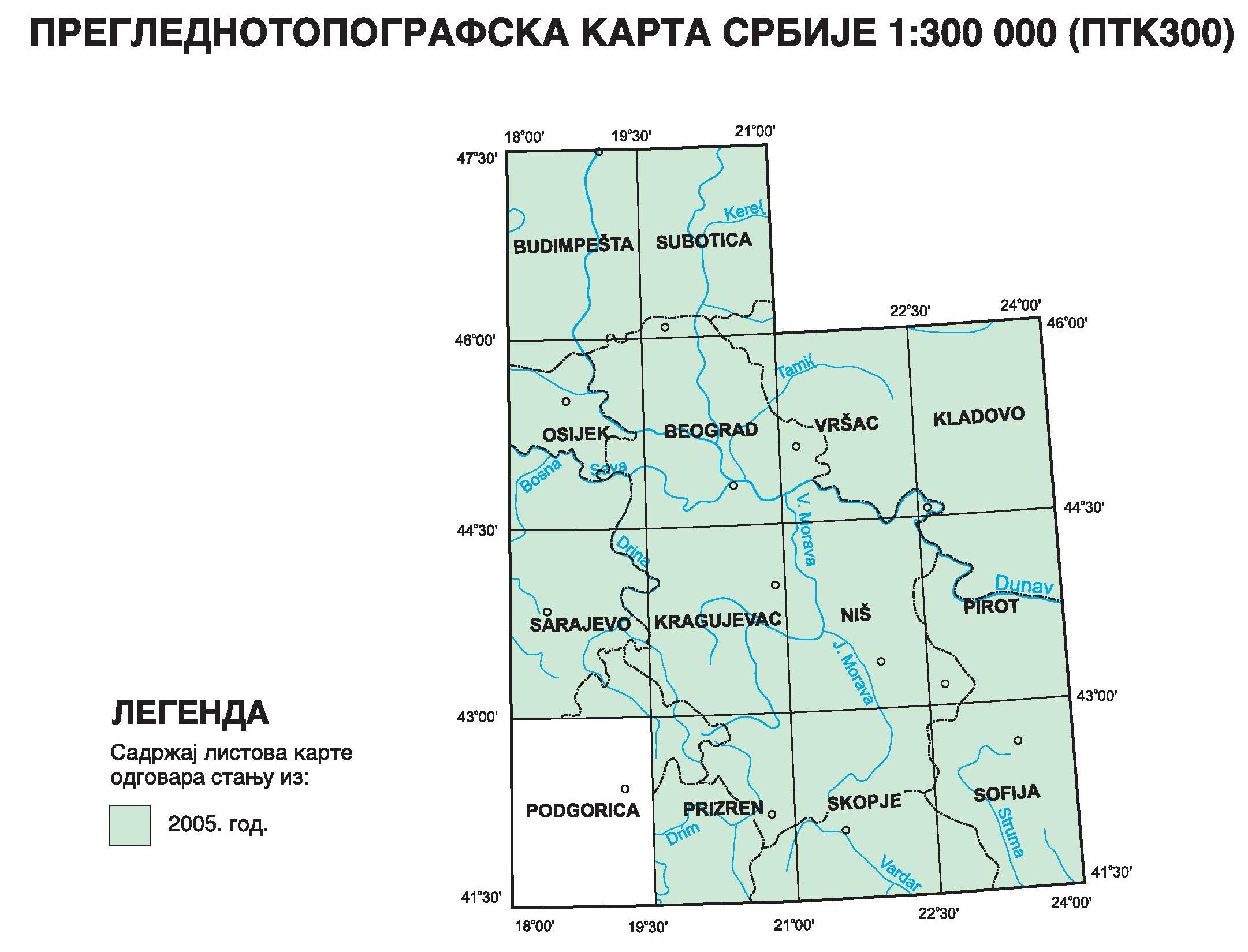 Preglednotopografska karta 1:300 000 (PTK300)