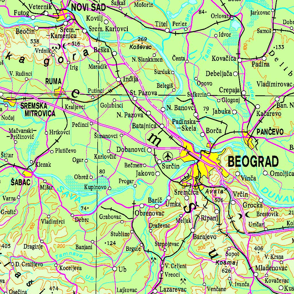 Општегеографска карта 1:1 000 000 (ОГК1000)