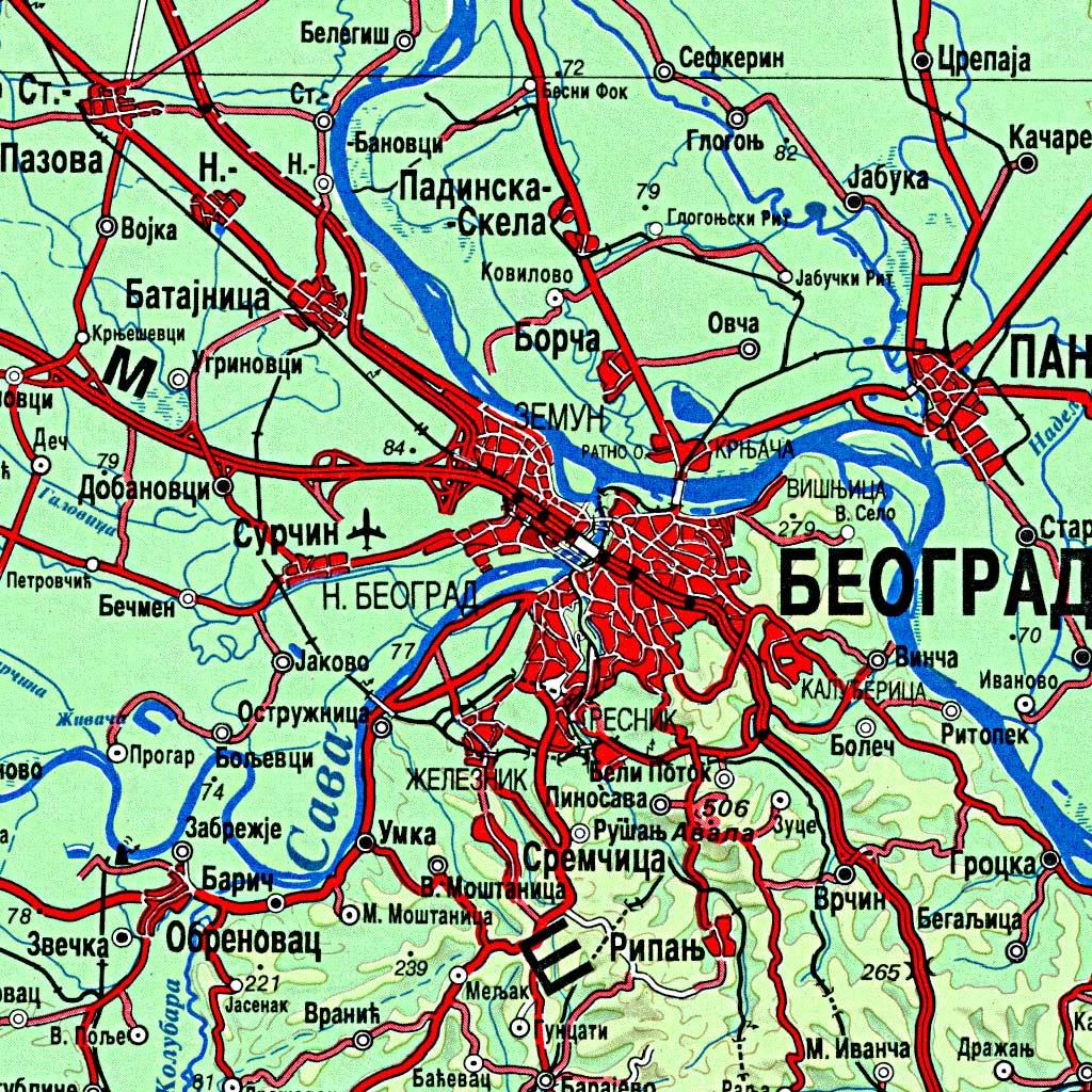 Preglednotopografska karta 1:500 000 (PTK500)