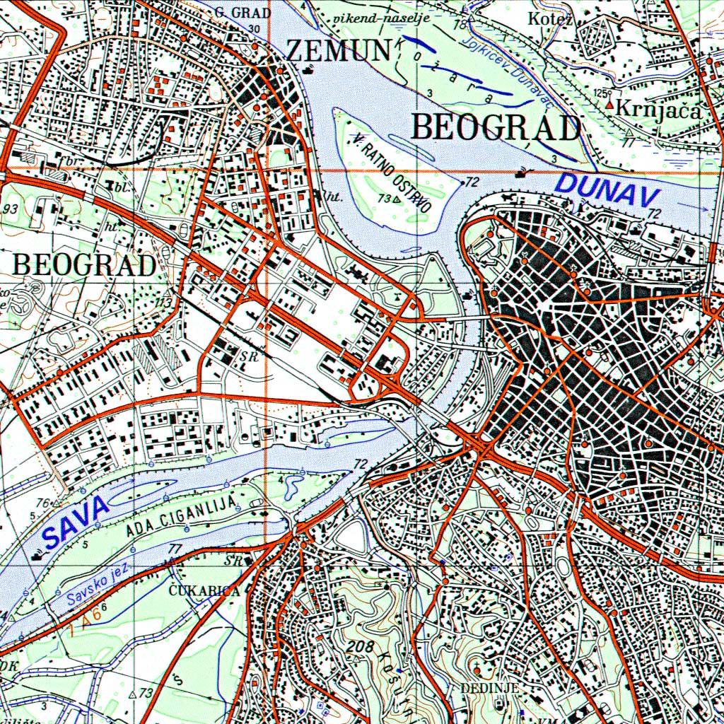 Topografska karta 1:100 000 (TK100)