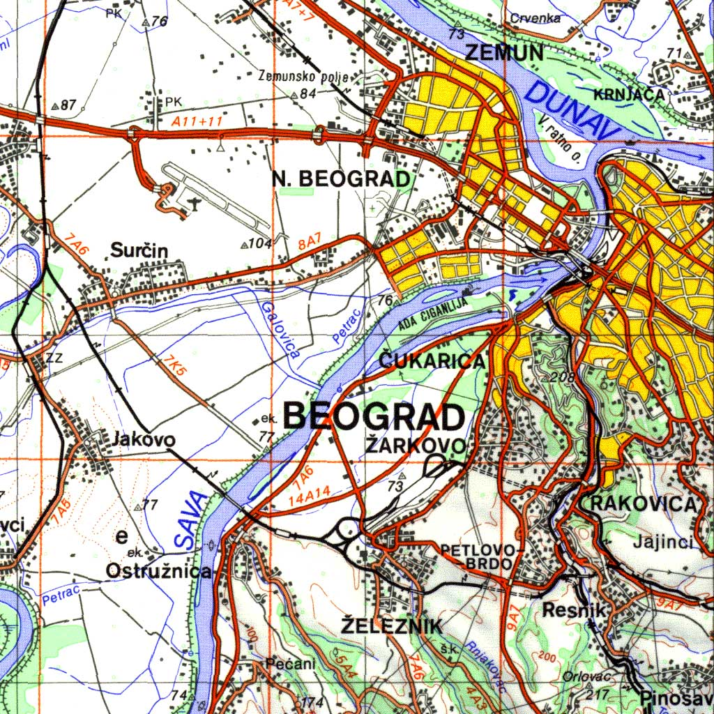 Топографска карта 1:200 000 (ТК200)