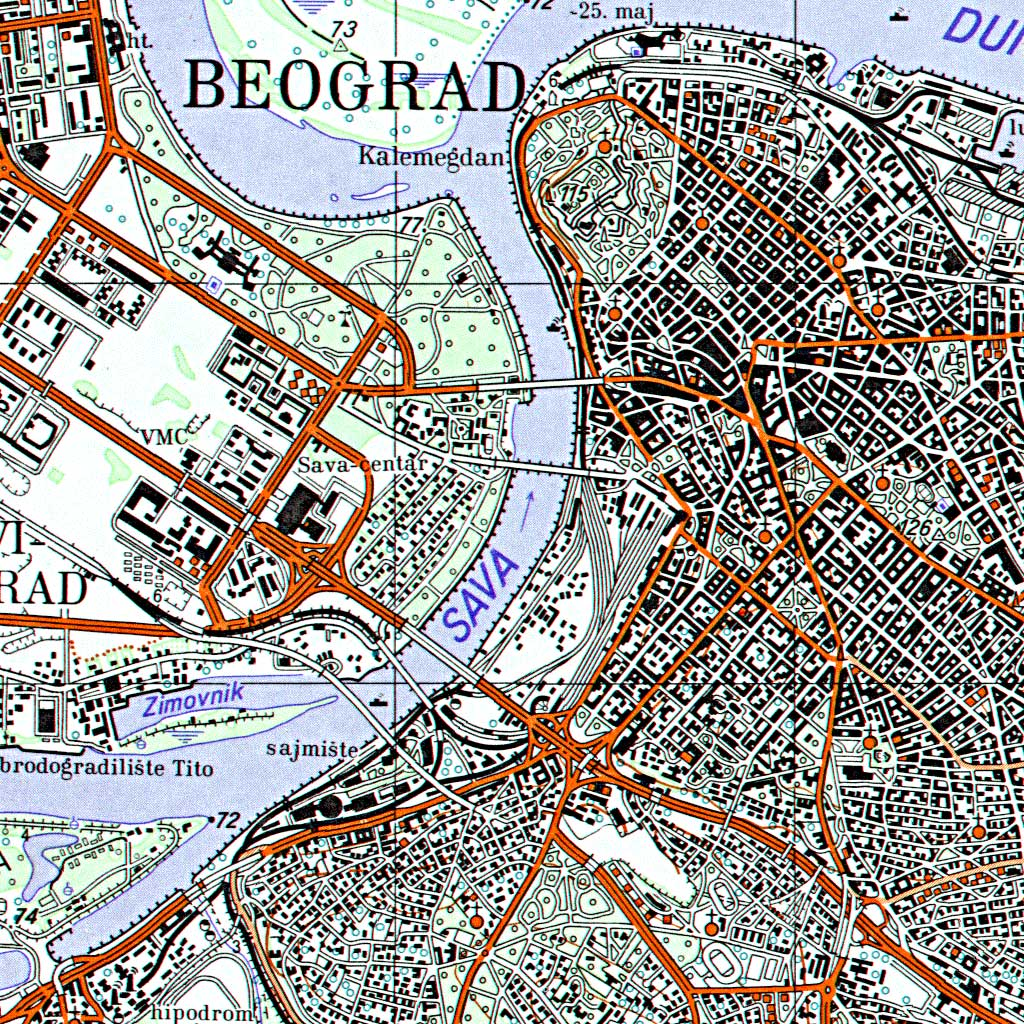 Topografska Karta 1 50 000 Tk50 Vojnogeografski Institut