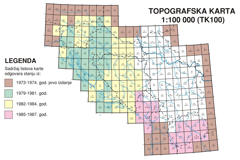 Карте бивше Југославије
